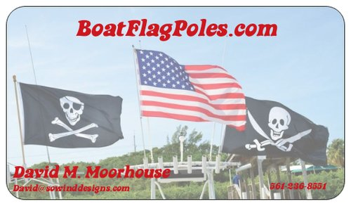 Boat Parade Special Two 6 Rod Holder Flag Poles And 3 X5 Flags Free Shipping