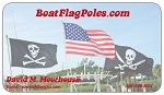 BOAT PARADE SPECIAL -- Two  6' Rod Holder Flag Poles and 2 FREE 3'x5' Trump Flags  FREE SHIPPING!!