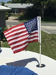 3' Flag Pole AND  Flag COMBO